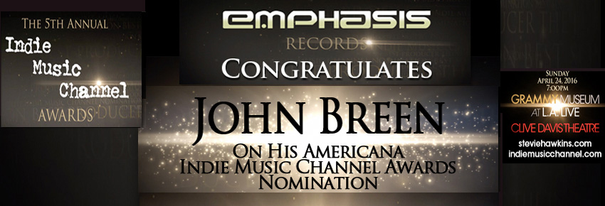 John Breen Indie Music Channel Awards Nomination