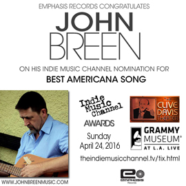 John Breen Indie Music Channel Awards